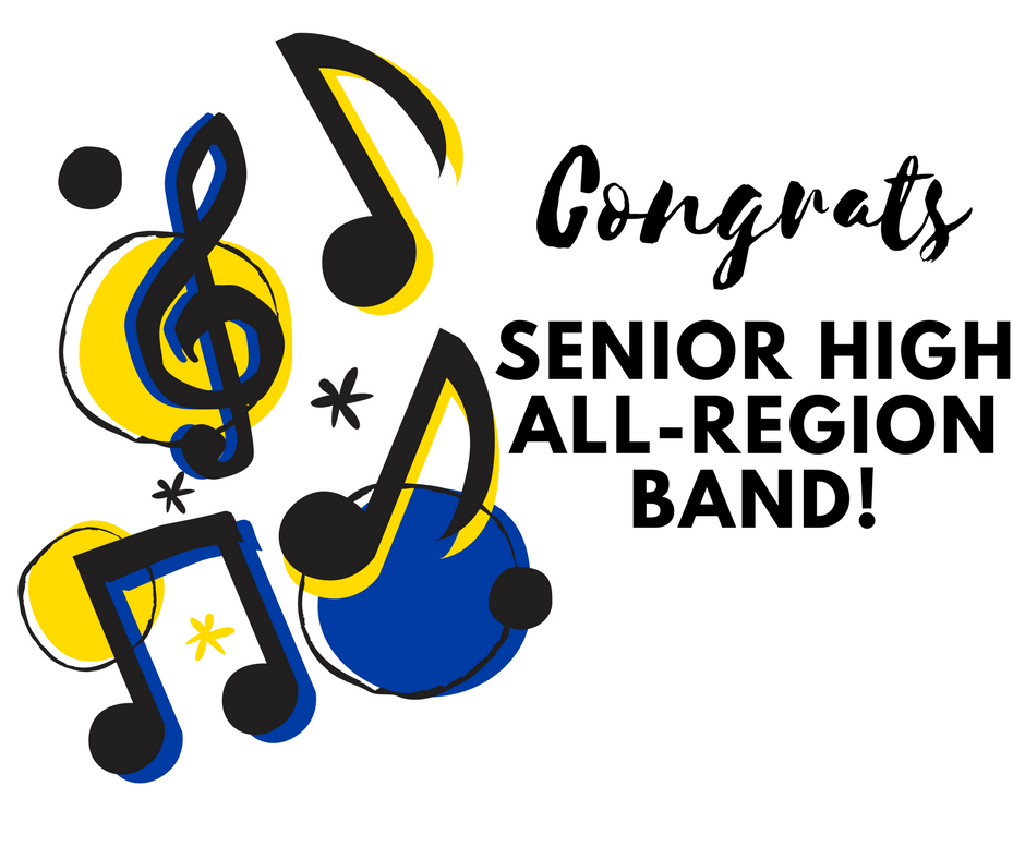 Congratulations to the following students who earned their spots in the 2018 Region 3 Honor Band!