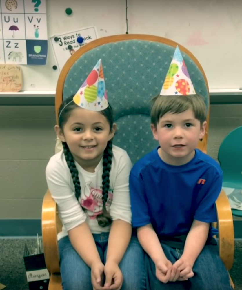 Video: Friday Announcements with Mrs. Williamson's Kindergarten Class