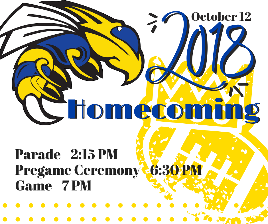 Homecoming is Oct. 12! Click Link for Parade Route