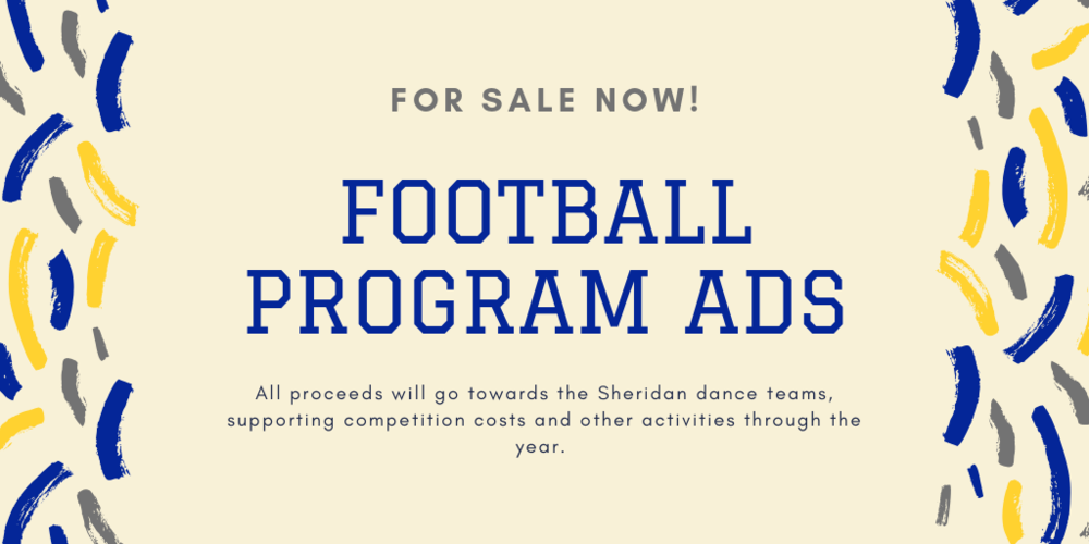 Football Program Ads For Sale Now!