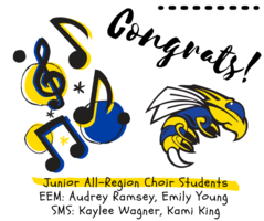 ​Congratulations to our Junior All-Region Choir students!