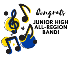 39 Students Win Chairs in Junior High All-Region Bands!