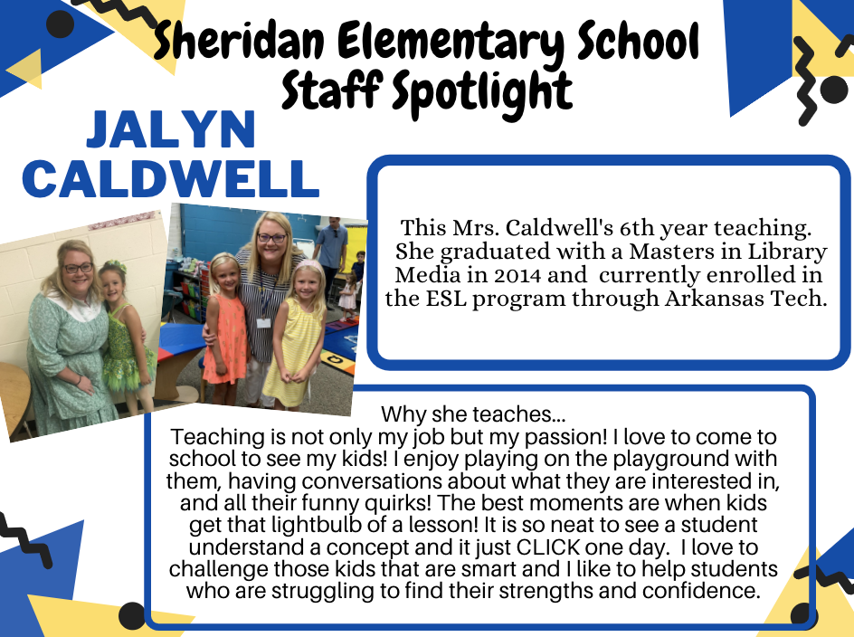SES Staff Spotlights of the Week, Billie Corley and Jalyn Caldwell