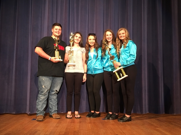 Talent Show First, Second, and Third Place Winners