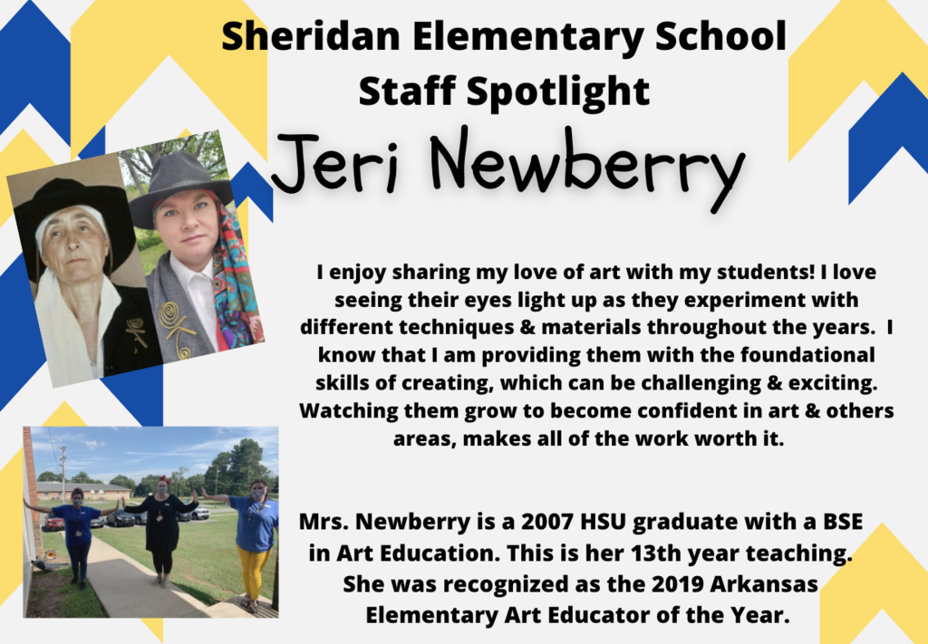 Jeri Newberry, Art Teacher