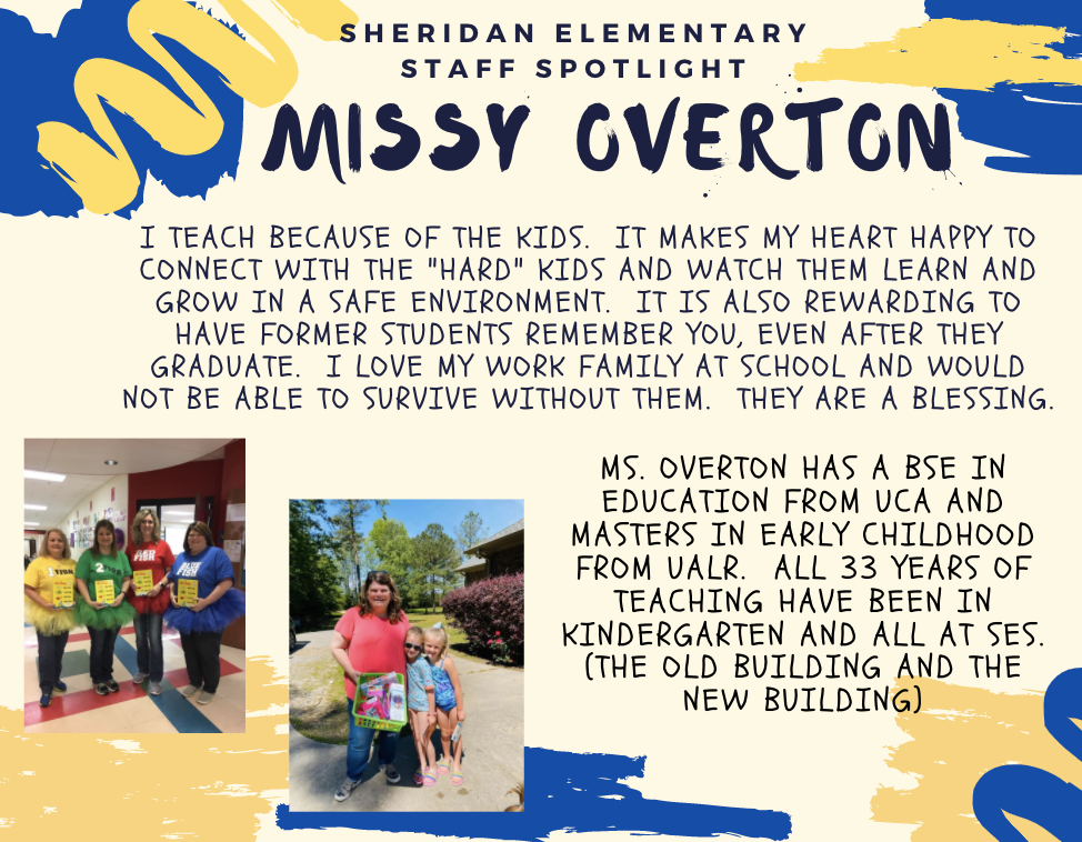 Missy Overton, SES Kindergarten Teacher