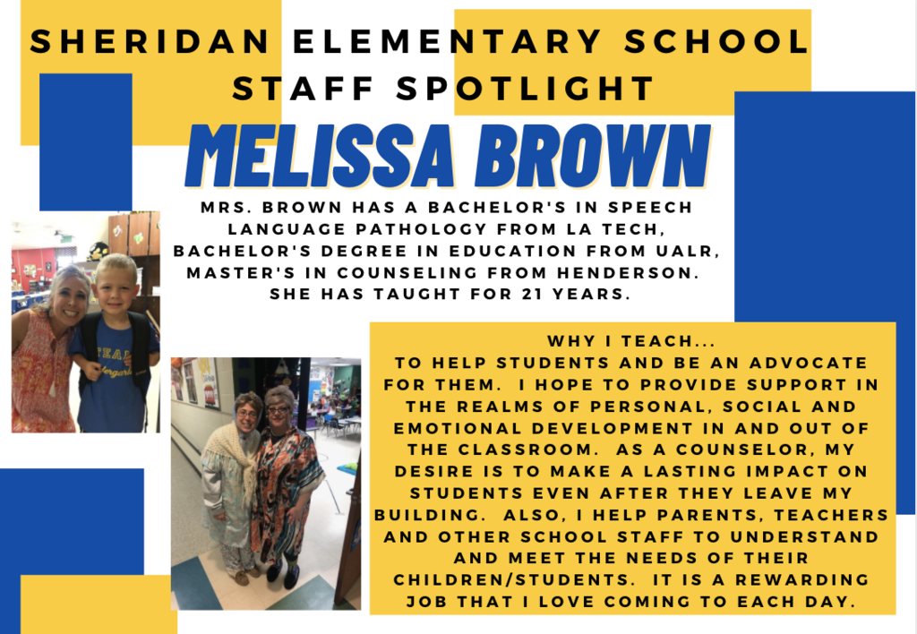 Melissa Brown, Counselor