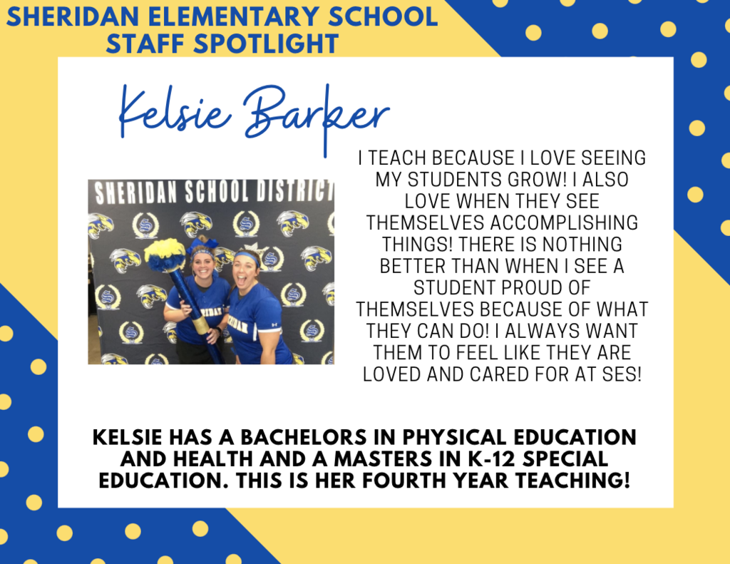 Kelsie Barker,  SES Special Education Teacher