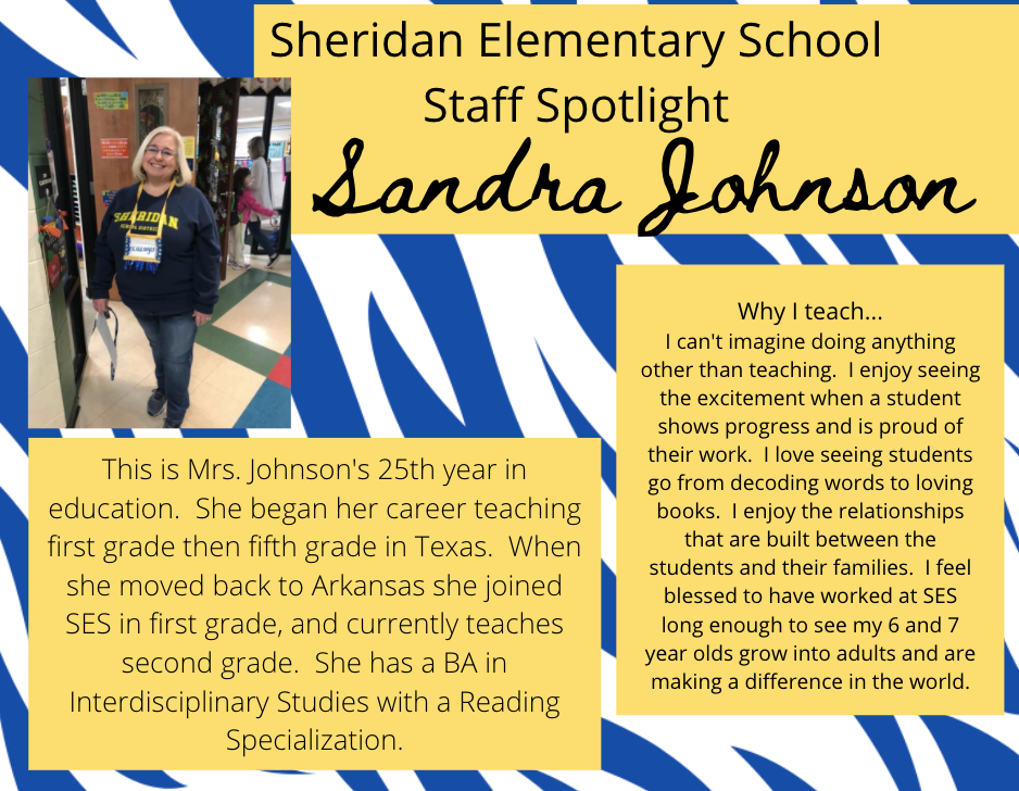 Sandra Johnson, 2nd Grade Teacher