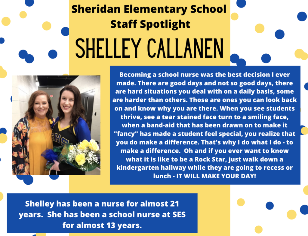 Shelly Callanen, School Nurse