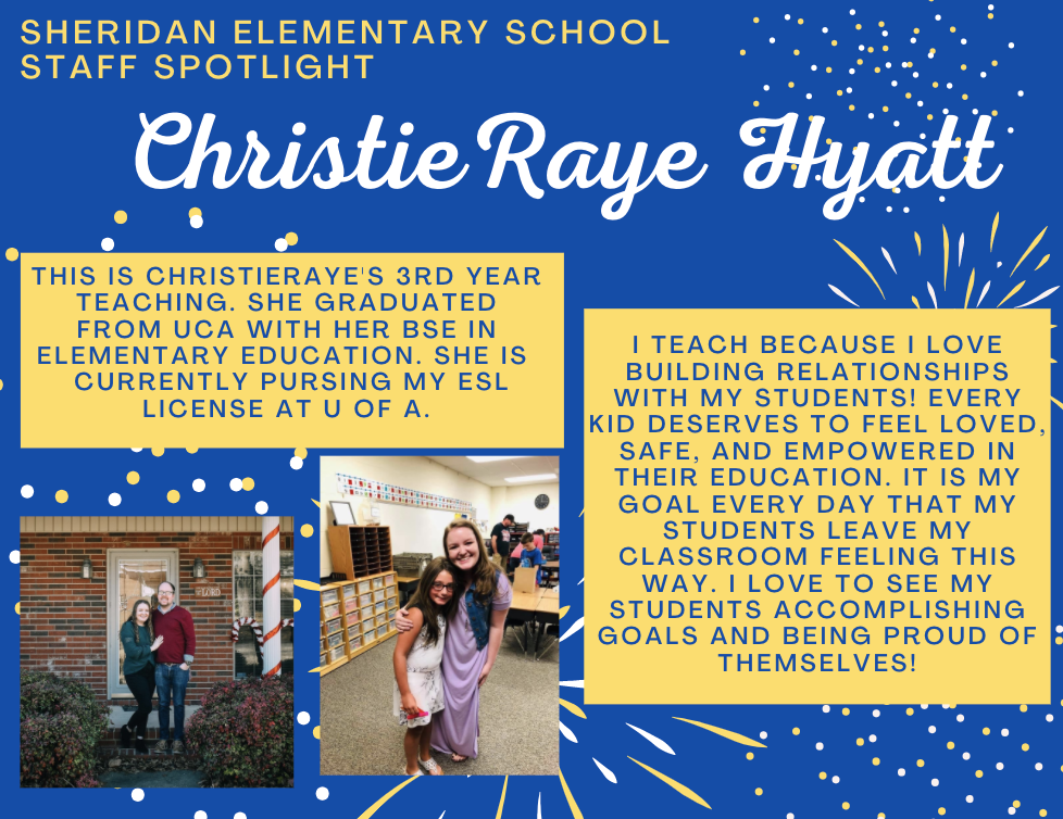 ChristieRaye Hyatt, SES 1st Grade Teacher