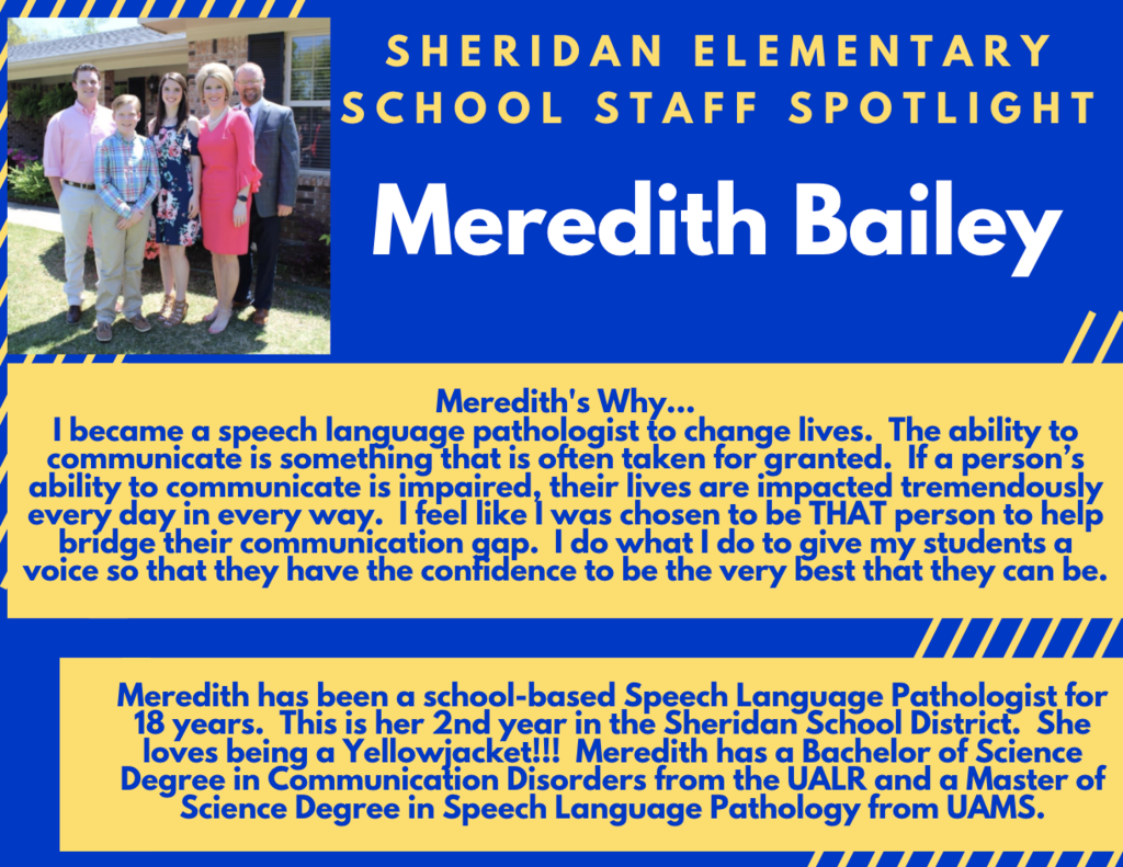 Meredith Bailey, Speech Therapist