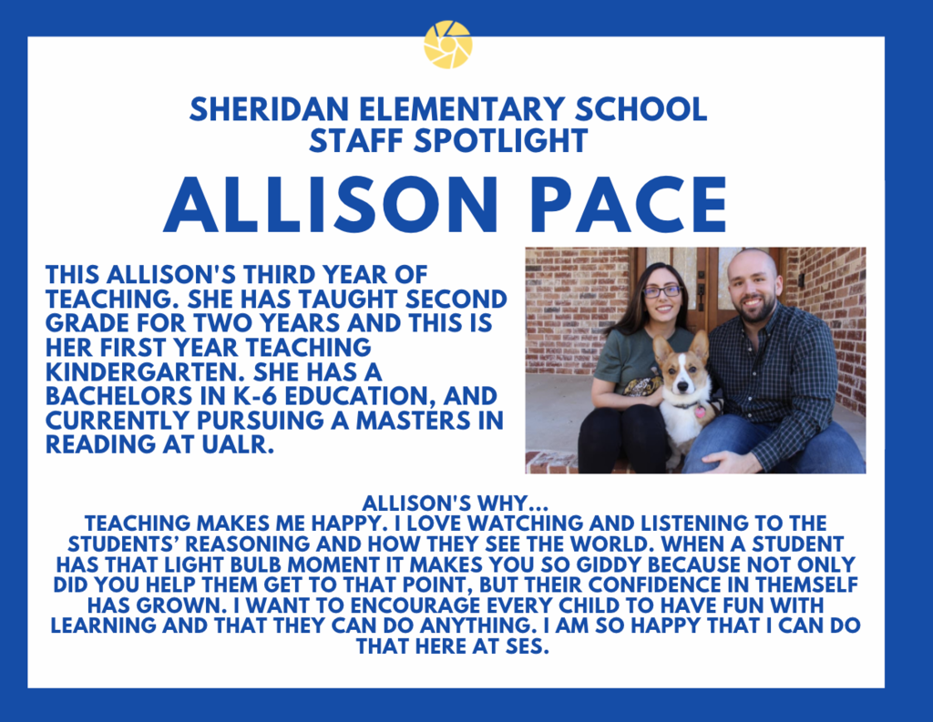 Allison Pace, Kindergarten Teacher
