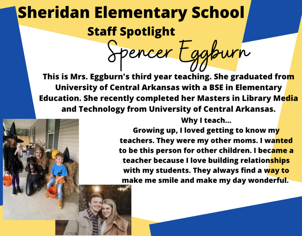 Spencer Eggburn, SES 1st Grade Teacher