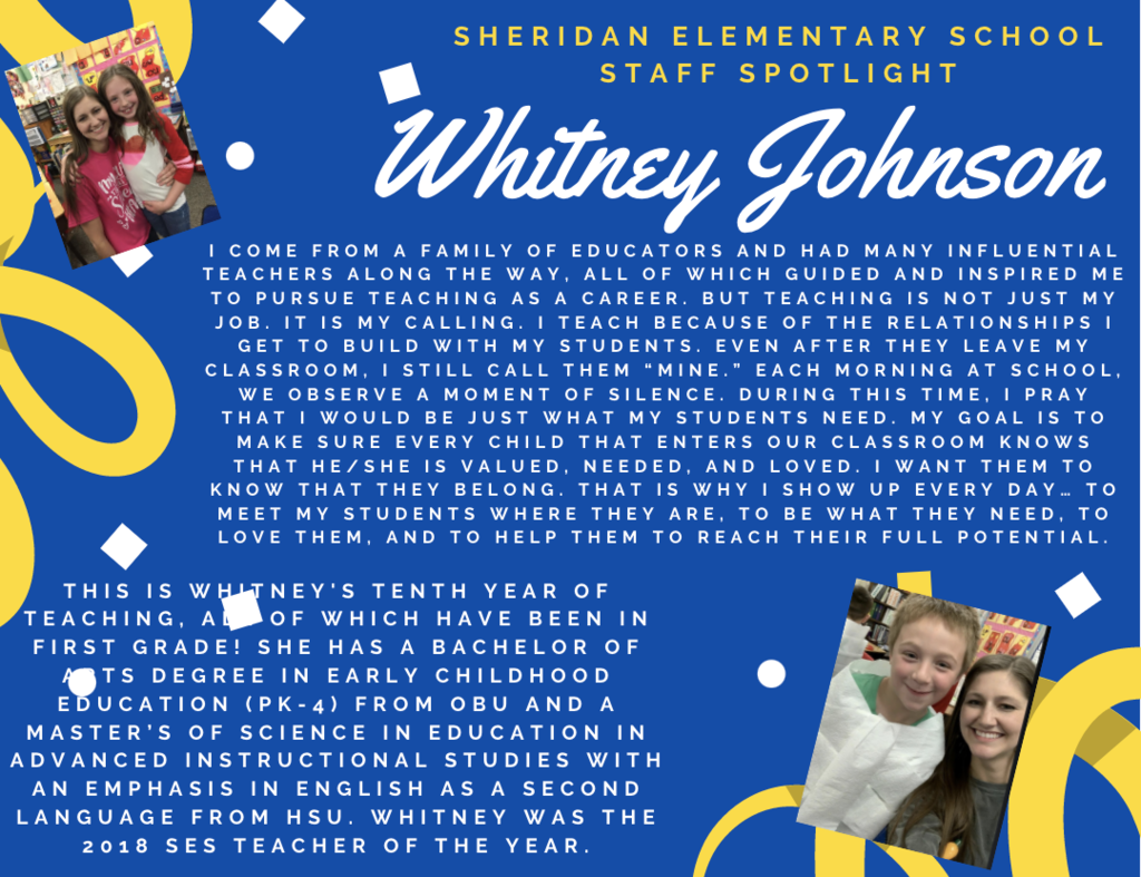 SES Staff Spotlights of the Week,  Whitney Johnson