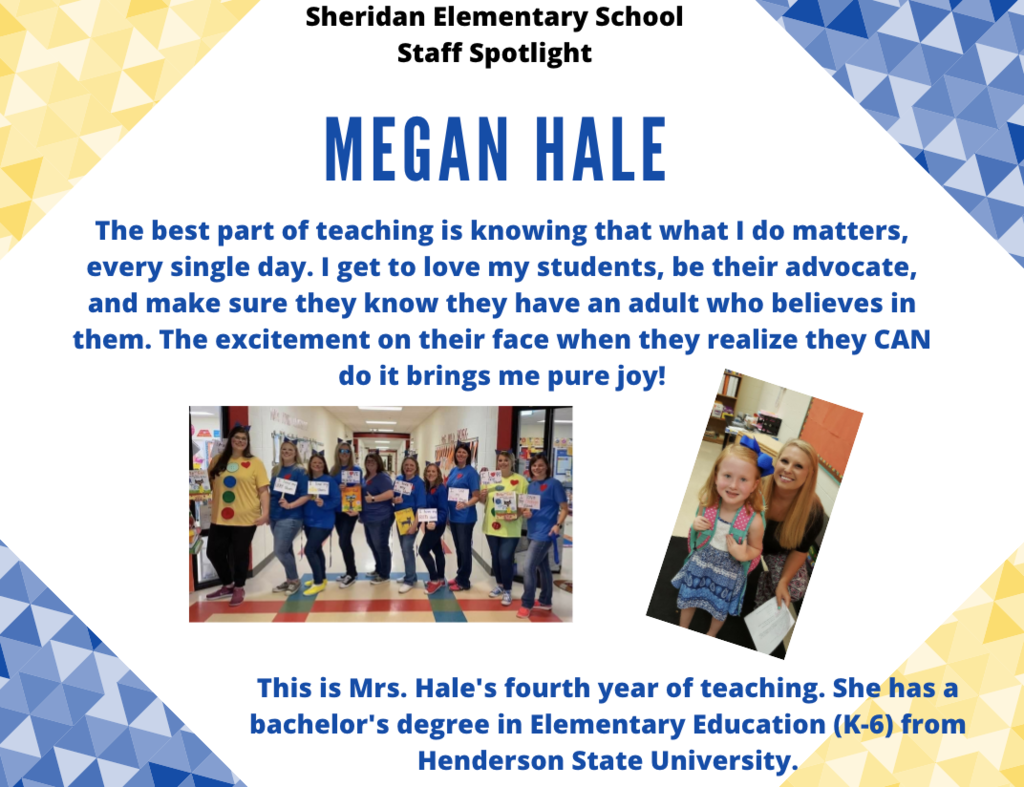 Megan Hale, Kindergarten Teacher