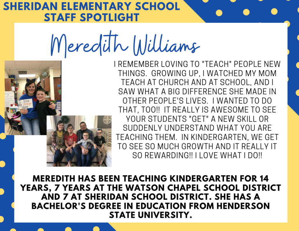 Meredith Williams, SES Kindergarten Teacher
