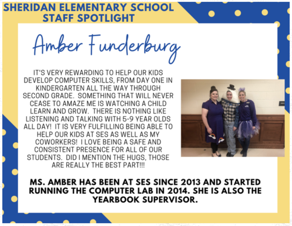 Amber Funderburg, SES Computer Lab/Yearbook Sponsor