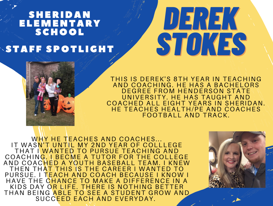 Derek Stokes, PE Teacher