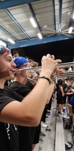 band playing at football game