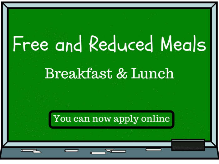 Image that says Free and Reduced Meals
