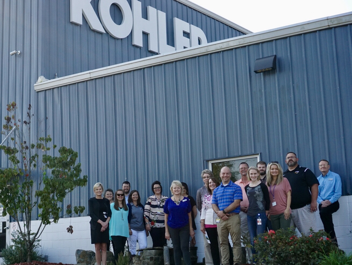 Picture of SSD administrators in front of Kohler.