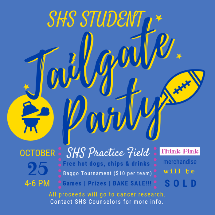 Image advertising the Tailgate Party