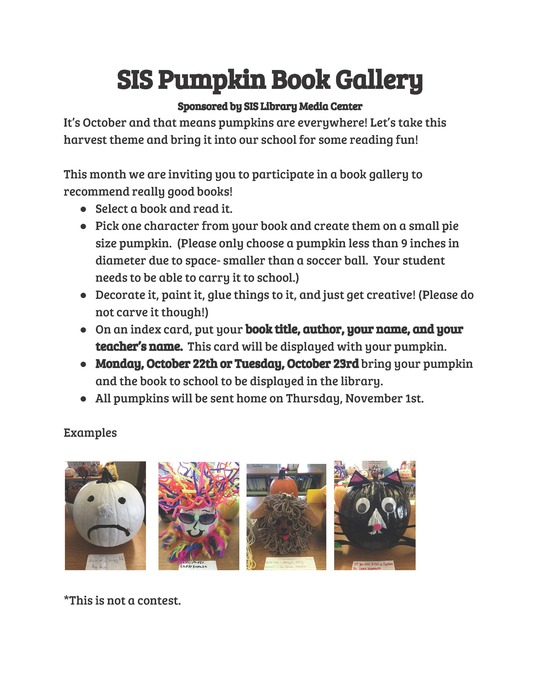 Image of Pumpkin Flyer. Pdf version is available in the mesage.