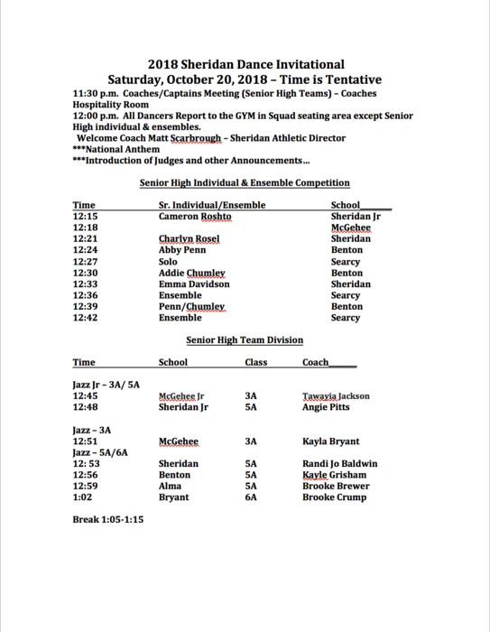 Image of Dance Invitational Page 1 (see link in text for PDF)