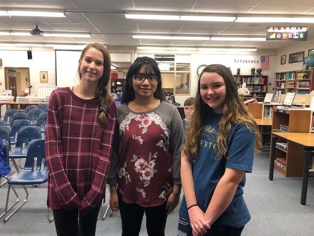 SJHS School Spelling Bee Winners