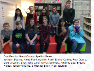 SJHS Qualifiers for the Grant County Bee