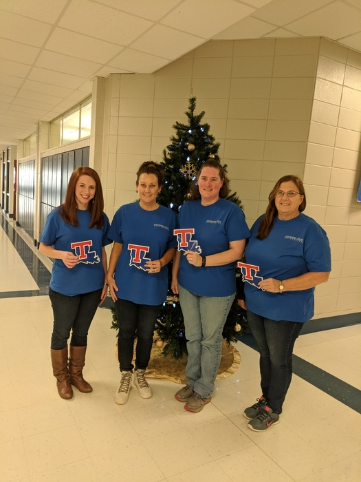 counselors with LA Tech shirts