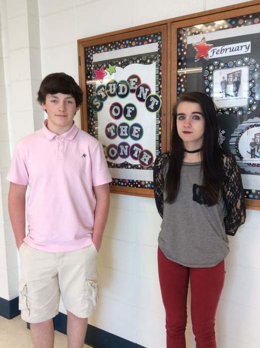 sophomore students of the month