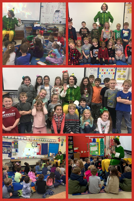 An Elf visited SES students!!