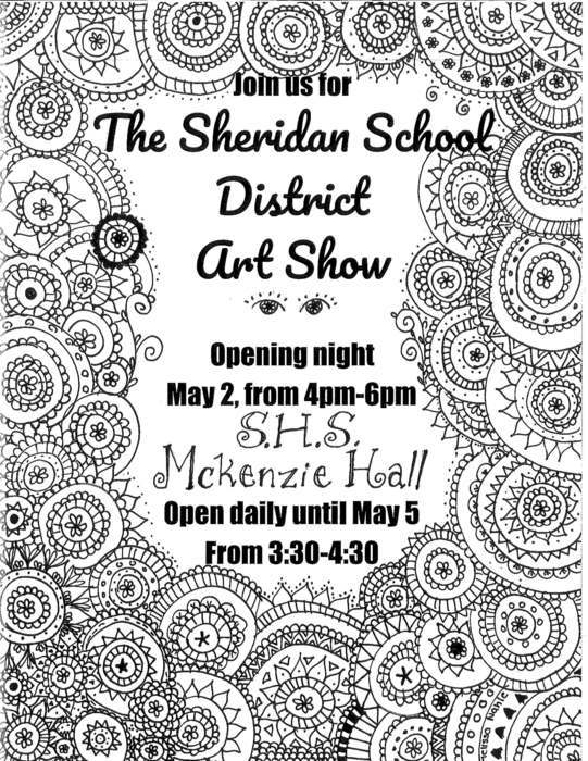 Image showing SHS Art Show information