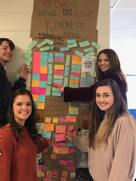 students with acts of kindness poster
