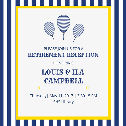 Image showing Retirement Reception Information