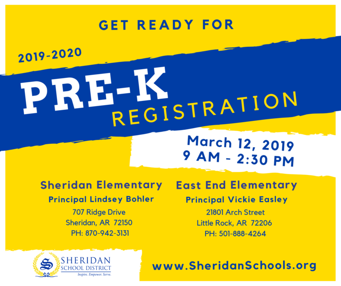 Image that says Pre K registration will be March 12