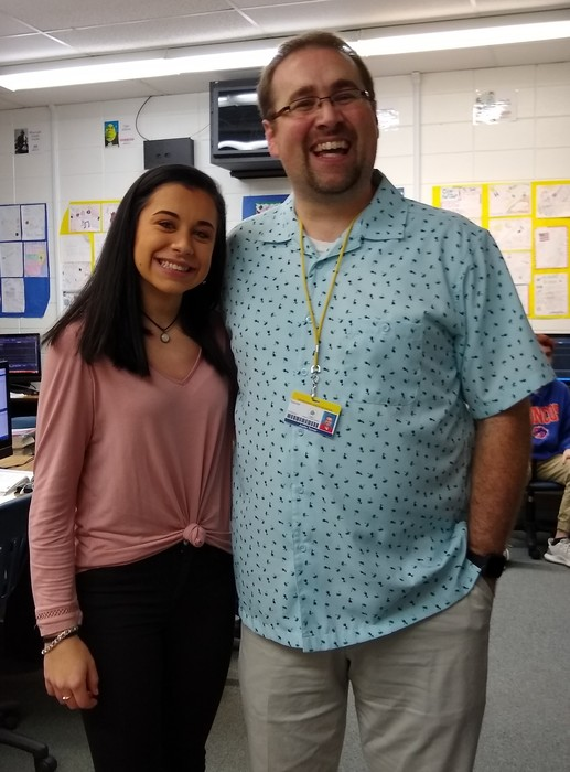 Kacie Wyrick and Teacher, Justin Turner