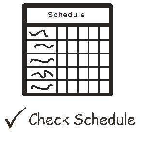 image reminding people to get schedules for upcoming school year