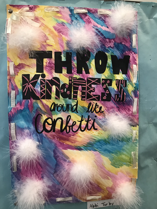 Image that says Throw Kindness Around Like Confetti