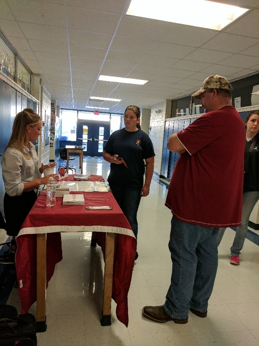 students getting information at SHS College Fair