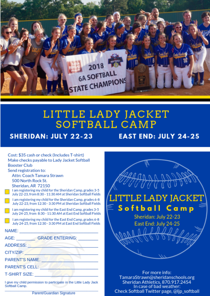 Image version of Softball Camp Flyer