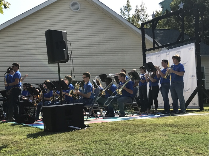 SHS Jazz Band performing at the I Can Birthday Bash