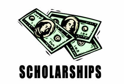 Scholarship logo with clipart of money