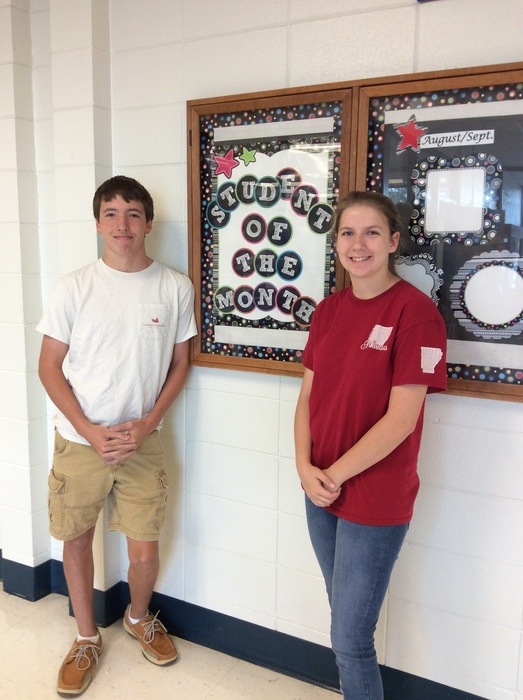 Junior Sept. Students of the Month