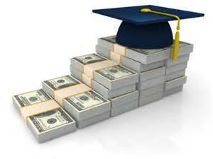 staircase of Money with graduation cap on top