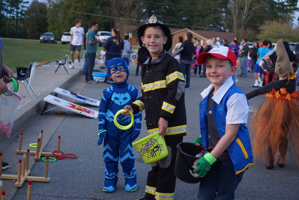 Picture of kids in costumes