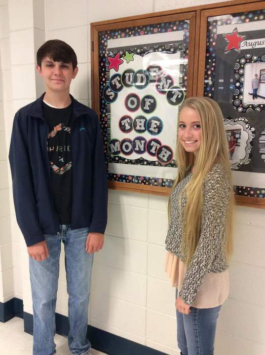 Sophomore Oct Students of the Month
