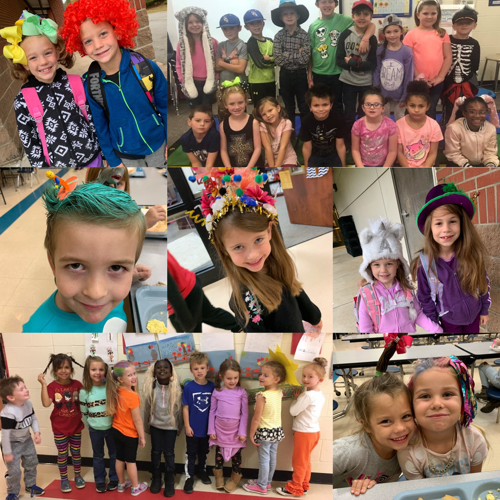 Red Ribbon Week Hat and Crazy Hair Day